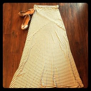Mossimo grey and white striped skirt LONG!
